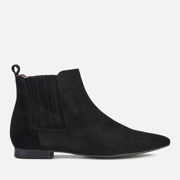 Hudson London Women's Reine Pointed Suede Ankle Boots - Black