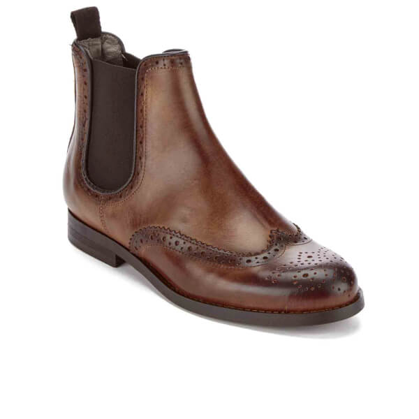 hudson s asta leather brogue chelsea boots