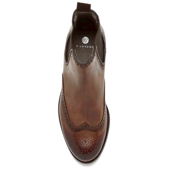 Hudson London Women S Asta Leather Brogue Chelsea Boots