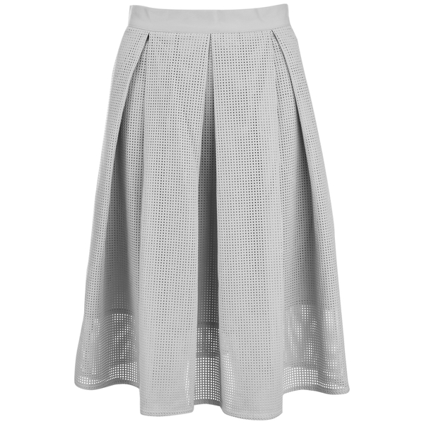 Great Plains Women's Square Route PU Skirt - Grey