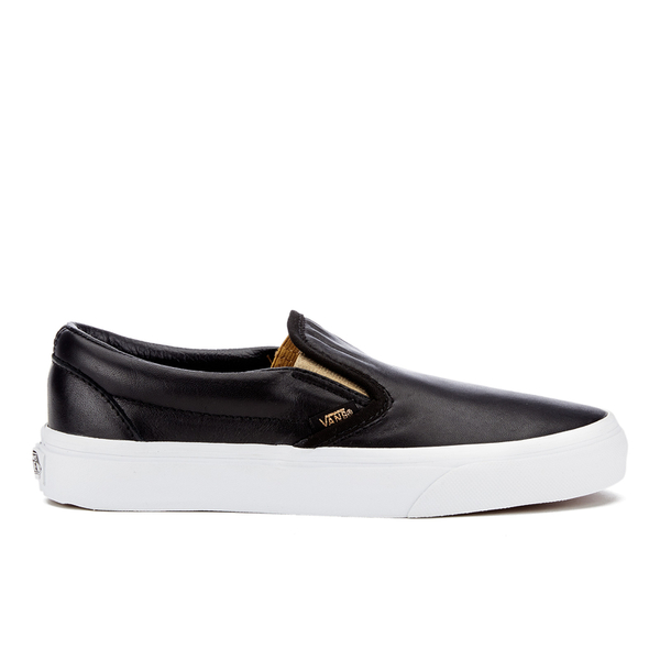 60705b8e48c2b1 Vans Women s Classic Slip-On Metallic Trainers - Black Gold  Image 1