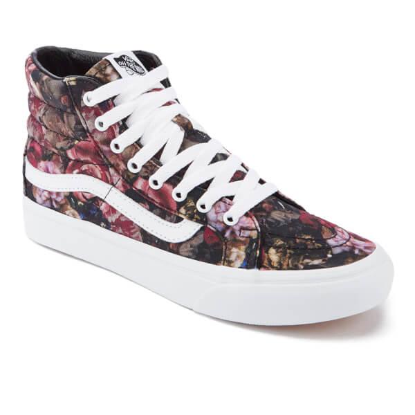 e4c7e5d23b Vans Women s Sk8-Hi Floral Trainers - Moody Floral Black True White ...