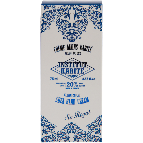 Institut Karité Paris Shea Hand Cream So Royal - Fleur-de-Lis 75 ml