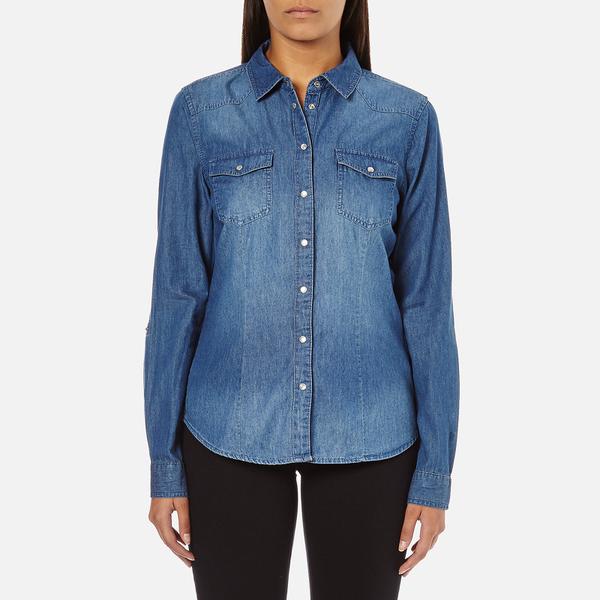 ONLY Women's Denim Shirt - Medium Blue Denim