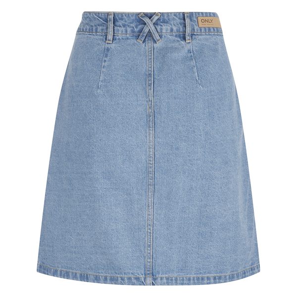 ONLY Women's Farrah A-Line Denim Skirt- Light Blue Denim Womens ...