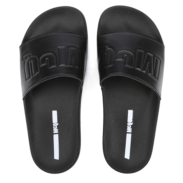 McQ Alexander McQueen Women's Infinity Slide Sandal - Black