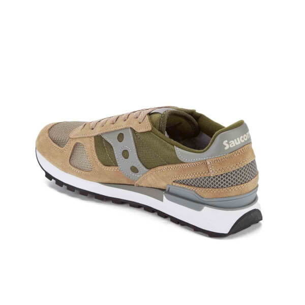 e52d84d335a36 Saucony Men's Shadow Original Trainers - Taupe/Green | FREE UK ...