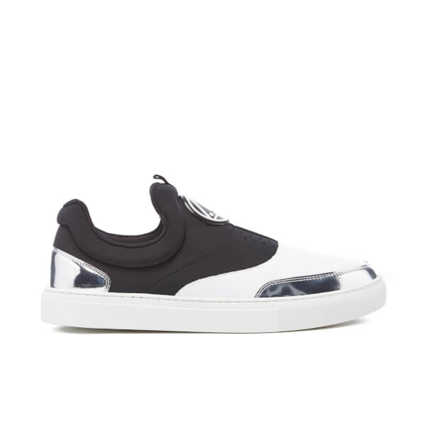 McQ Alexander McQueen Men's Youko Mid Cut Slip On Trainers - Black/White/Silver