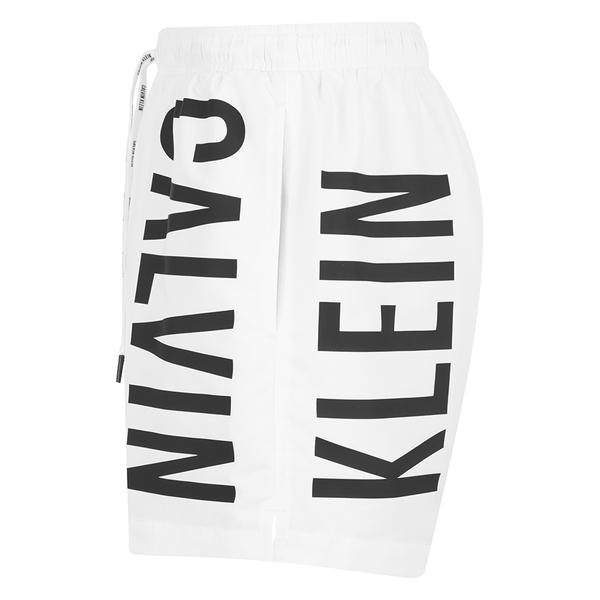 4540f92efe Calvin Klein Men's CK One Logo Intense Power Swim Shorts - White: Image 3