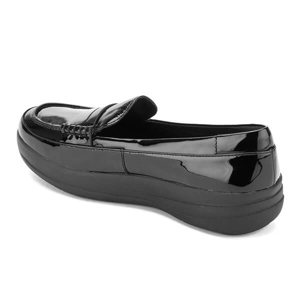 f513fe643 FitFlop Women s F-Sporty Patent Penny Loafers - Black  Image 4