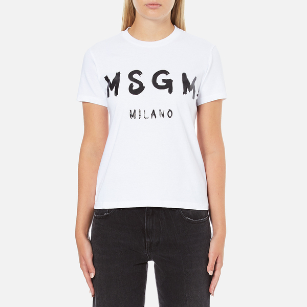 MSGM Women's Logo T-Shirt - White