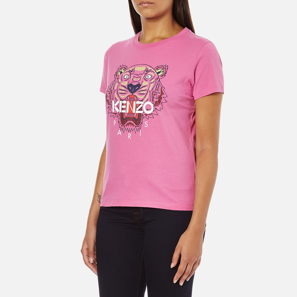 Kenzo Women 39 S Tiger Embroidered T Shirt Begonia Free