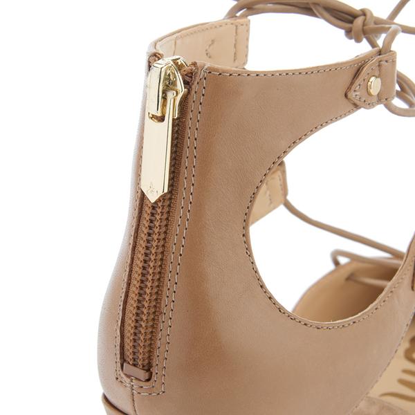 2bbb74dd2 Sam Edelman Women s Taylor Leather Lace Up Court Shoes - Golden Caramel   Image 5