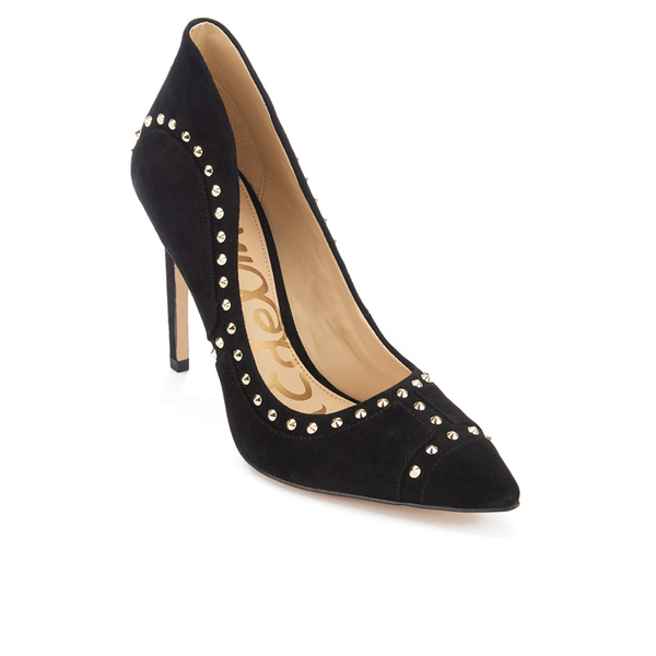 61084b30d Sam Edelman Women s Hayden Suede Studded Court Shoes - Black  Image 2