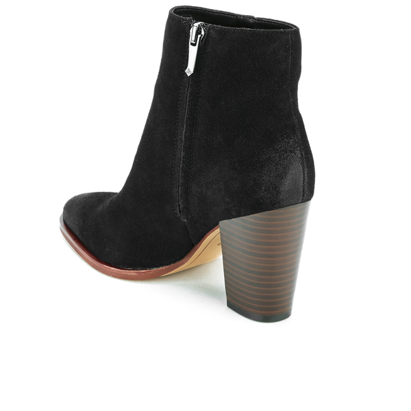 sam edelman s suede heeled ankle boots black