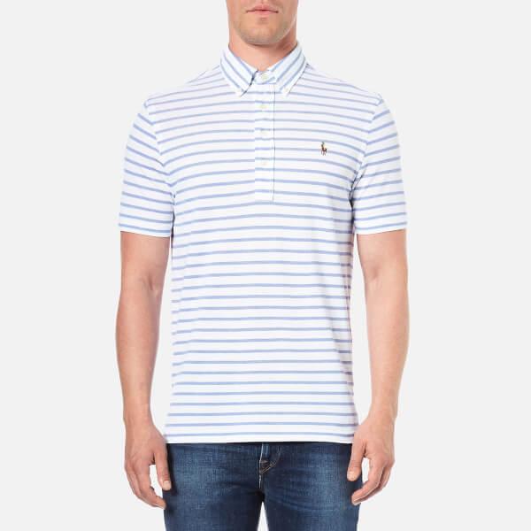 Polo Ralph Lauren Men's Stripe Cotton Polo Shirt - White/Indigo