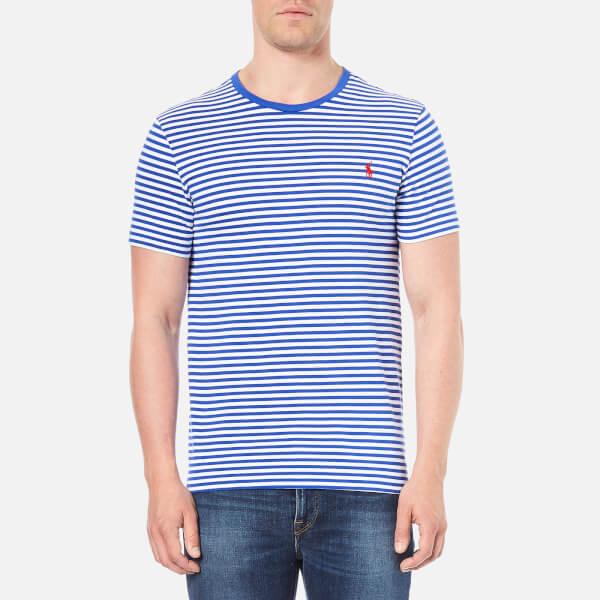 Polo Ralph Lauren Men's Crew Neck Stripe T-Shirt - Bright Royal