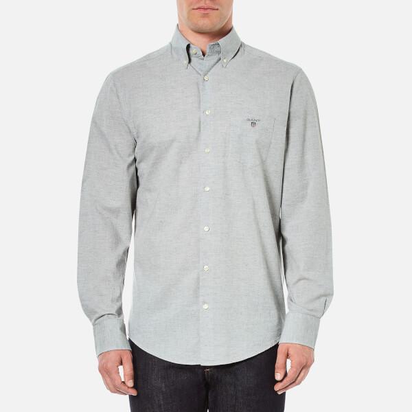 Gant men 39 s air chambray button down shirt grey melange for Mens grey button down dress shirt