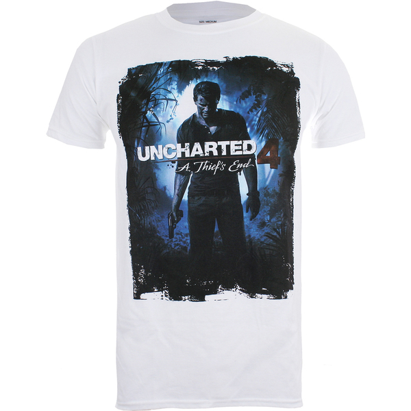 Uncharted 4 Men's Cover Logo T-Shirt - White