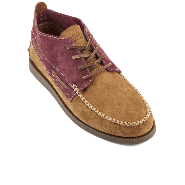 sperry s a o 2 eye wedge suede chukka boots