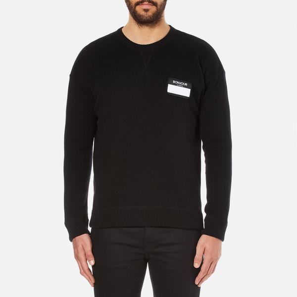 AMI Men's Oversized Crew Neck Sweatshirt - Black
