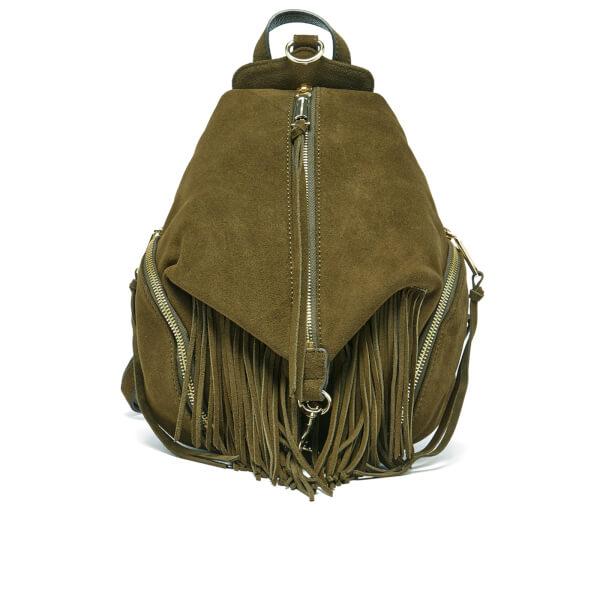 Rebecca Minkoff Women's Fringed Medium Julian Backpack - Olive
