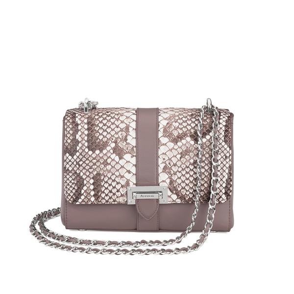 Aspinal of London Women's Lottie Python Bag - Chanterelle/Natural