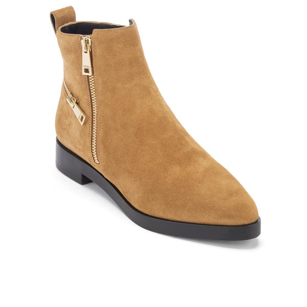 KENZO Women's Totem Flat Ankle Boots - Tan: Image 2