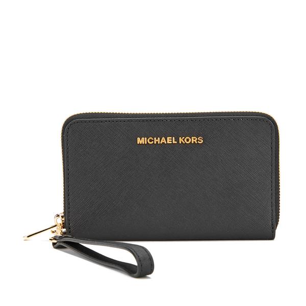 MICHAEL MICHAEL KORS Jet Set Travel Phone Purse - Black