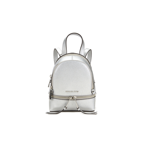 9d590f45df0a MICHAEL MICHAEL KORS Rhea Zip Small Crossbody Backpack - Silver  Image 1