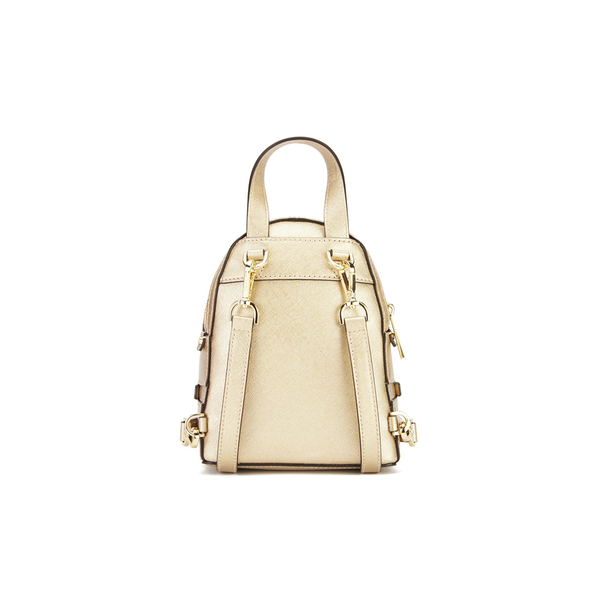 5c20e6b8043d4 MICHAEL MICHAEL KORS Rhea Zip Small Crossbody Backpack - Gold  Image 6