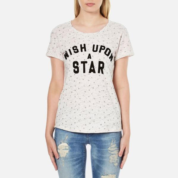 Maison Scotch Women's Wish Upon A Star Short Sleeve T-Shirt - White