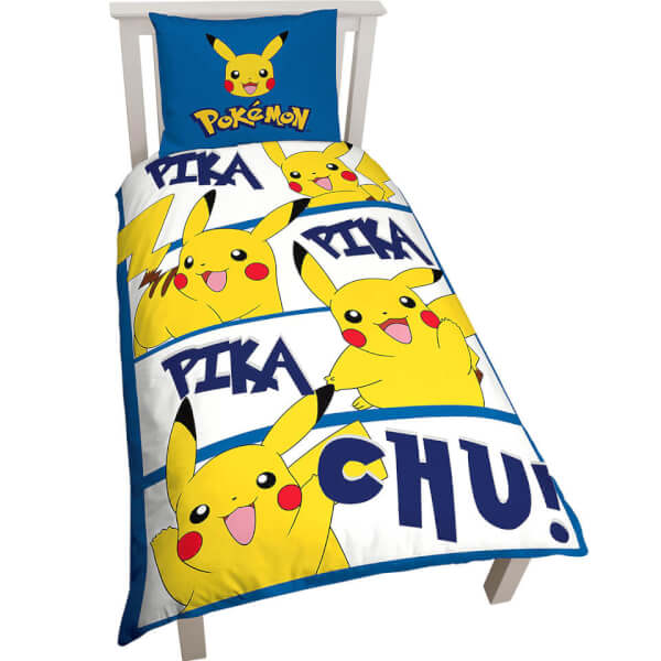 Pikachu Single Duvet Cover Set