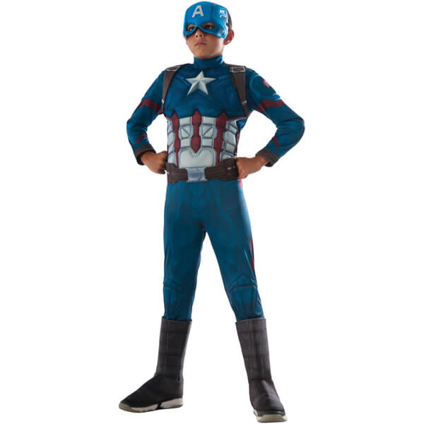 Marvel Avengers Boys' Deluxe Captain America Civil War Fancy Dress