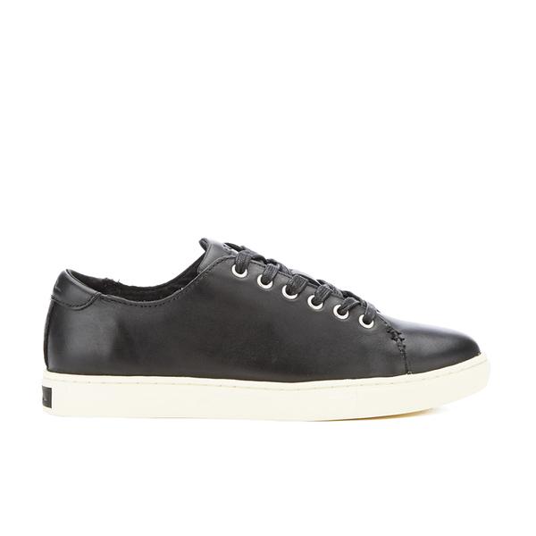 29d076831 Lauren Ralph Lauren Women s Waverly Leather Trainers - Black  Image 1