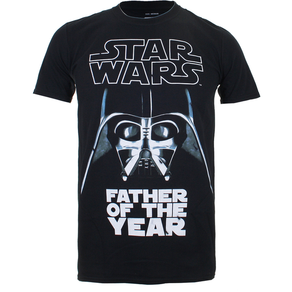 T-Shirt Homme Star Wars Père of the Year - Noir