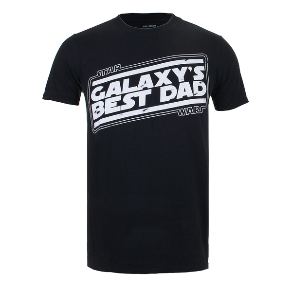 Star Wars Men's Galaxy's Best Dad T-Shirt - Black
