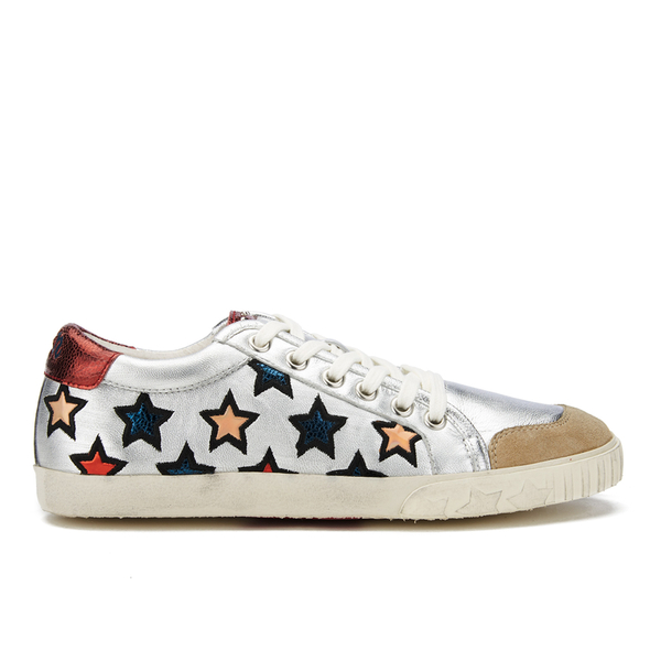 Ash Women's Majestic Star Print Low Top Trainers - Seta/Silver/Red