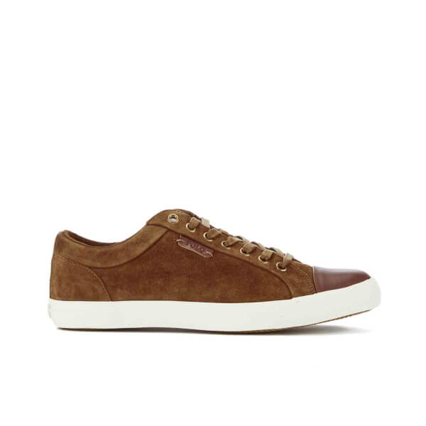 Polo Ralph Lauren Men's Geffrey Suede/Leather Trainers - Snuff/Polo Tan