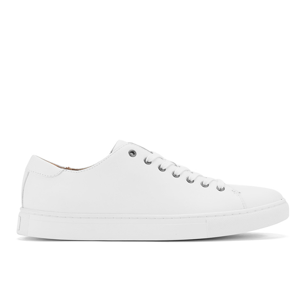 Polo Ralph Lauren Men's Jermain Leather Cupsole Trainers - White