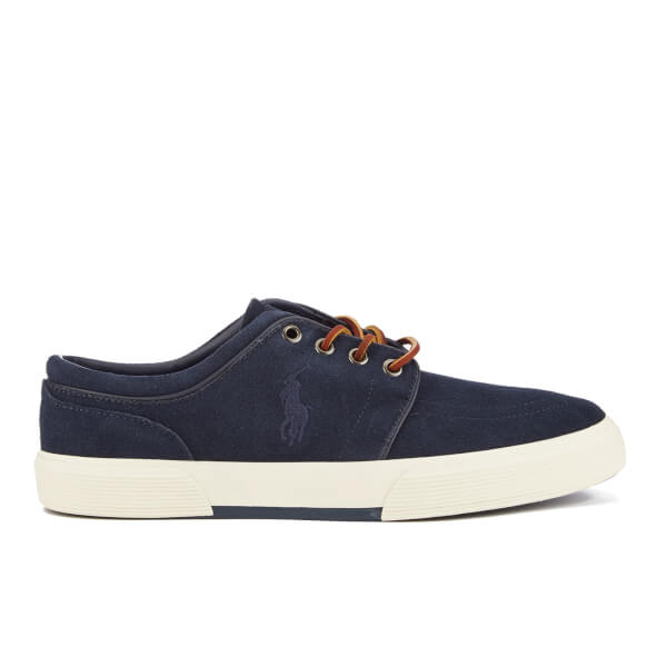 Polo Ralph Lauren Men's Faxon Sport Suede Low Top Trainers - Newport Navy