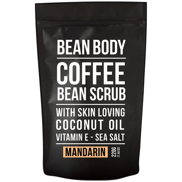 Bean Body Coffee Bean Scrub 220 g - Mandarin