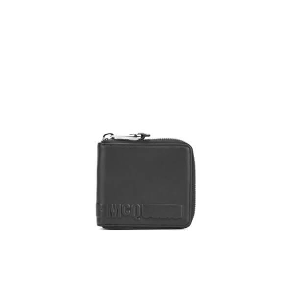 McQ Alexander McQueen Men's Zip Around Wallet - Black