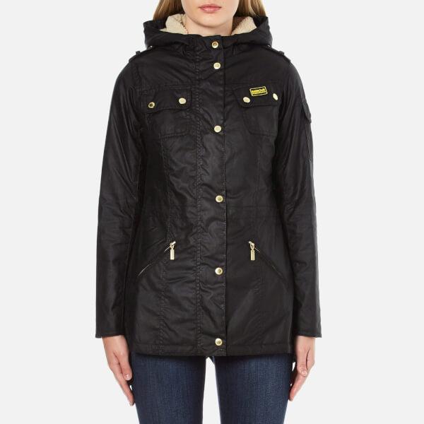 Barbour International Women's Flywheel Parka Coat - Black/Natural