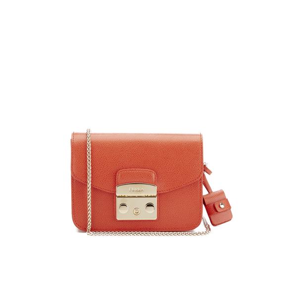 dc53e2517fd56 Furla Women s Metropolis Mini Crossbody Bag - Orange  Image 1