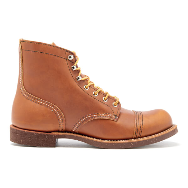 Red Wing Men's Iron Ranger Toe Cap Leather Boots - Oro Russet