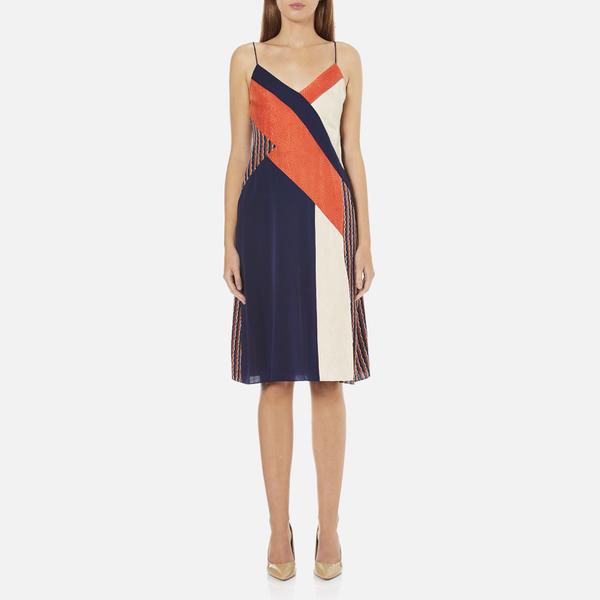 Diane von Furstenberg Women's Frederica Dress - Rickrack Khaki