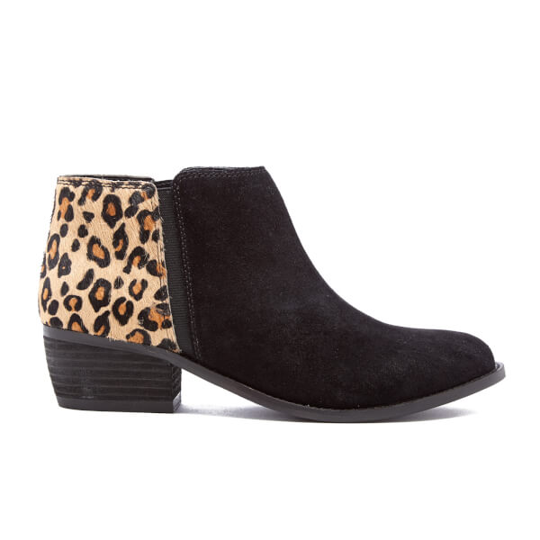 Dune Women's Penelope Suede Ankle Boots - Leopard Pony