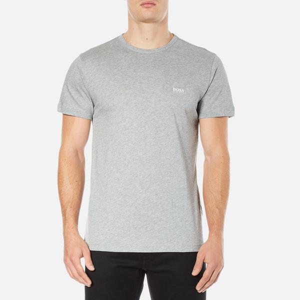 BOSS Green Men's Small Logo T-Shirt - Grey