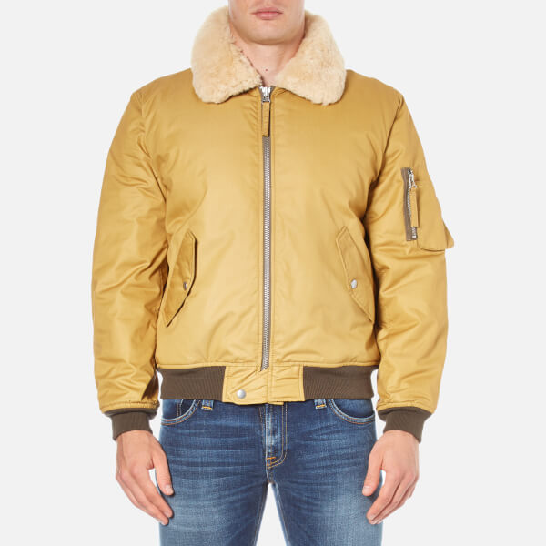 Our Legacy Men's Yolk Yolk Flight Jacket - Beige